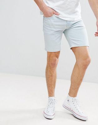 ASOS - Short en jean délavé skinny clair