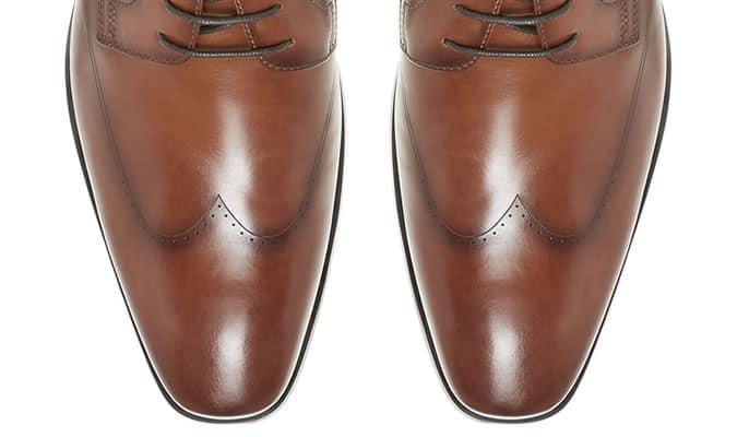 Chaussures Wingtip sans broguing
