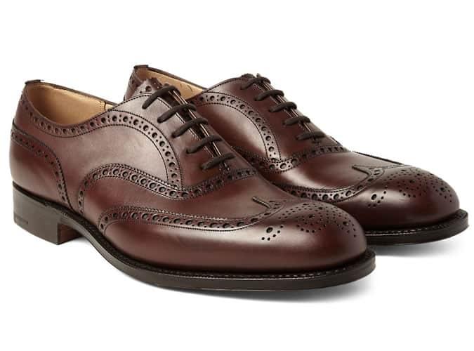 Chaussures brogues classiques à bouts ouverts pour hommes