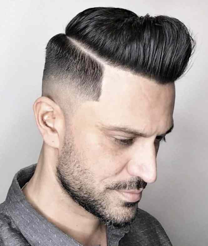 Fade Haircut With Line On The Side The Best Haircut Of 2018