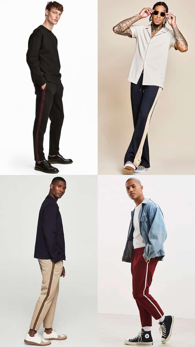 Comment porter un pantalon à rayures latérales