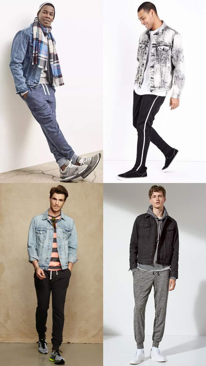 Comment porter une veste en jean avec un jogging