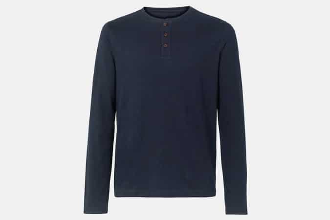 T-shirt FatFace Henley Lowick Hemp Henley