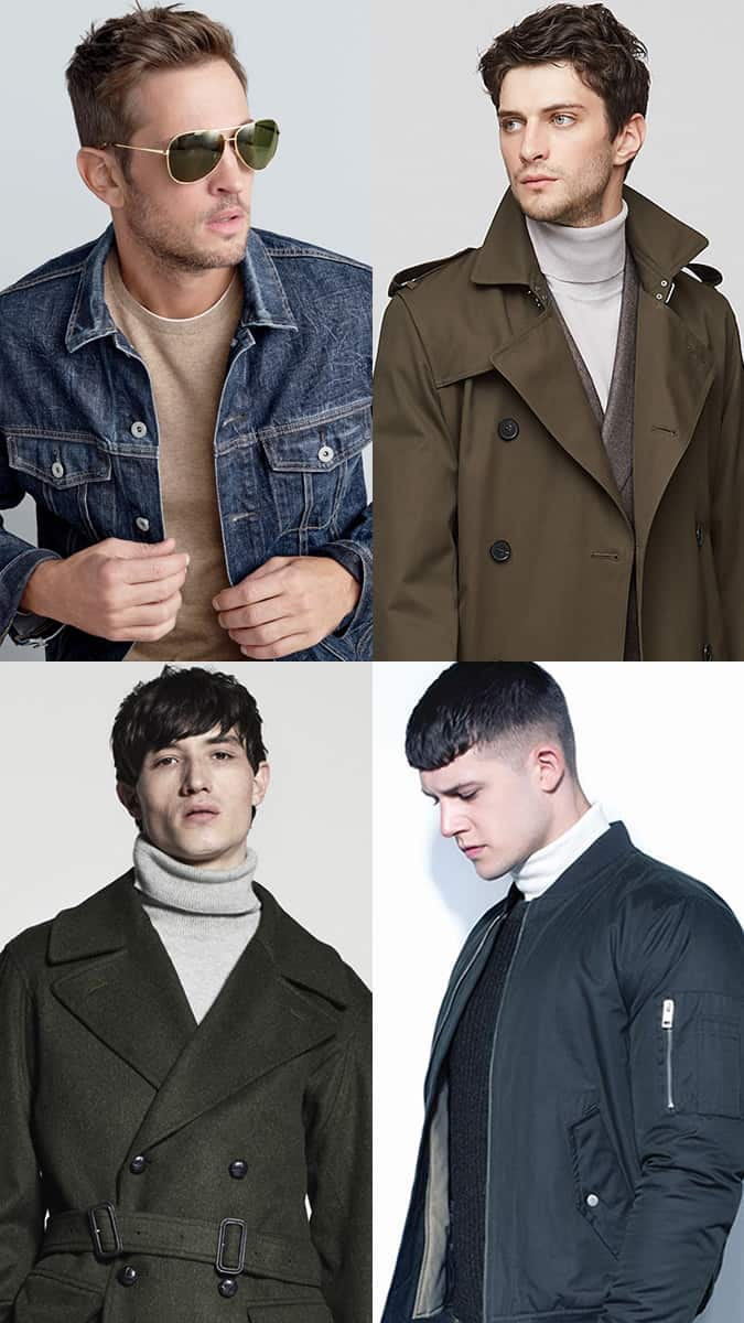 Men's Military-Style Coats