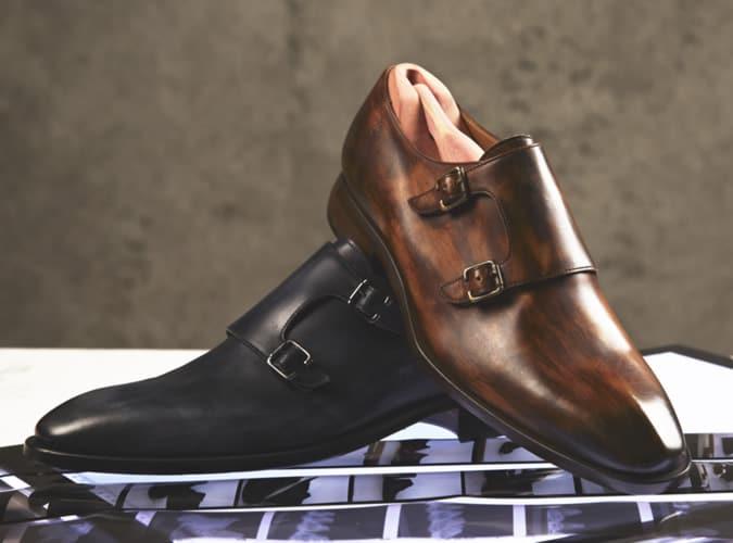 Chaussures à sangle de moine pour homme