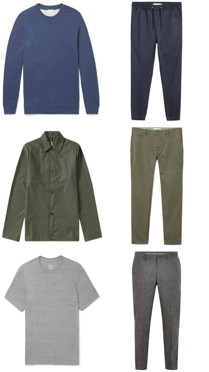 Vêtements pour hommes ton sur ton