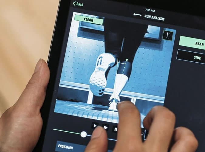 Nike in store run analysis service