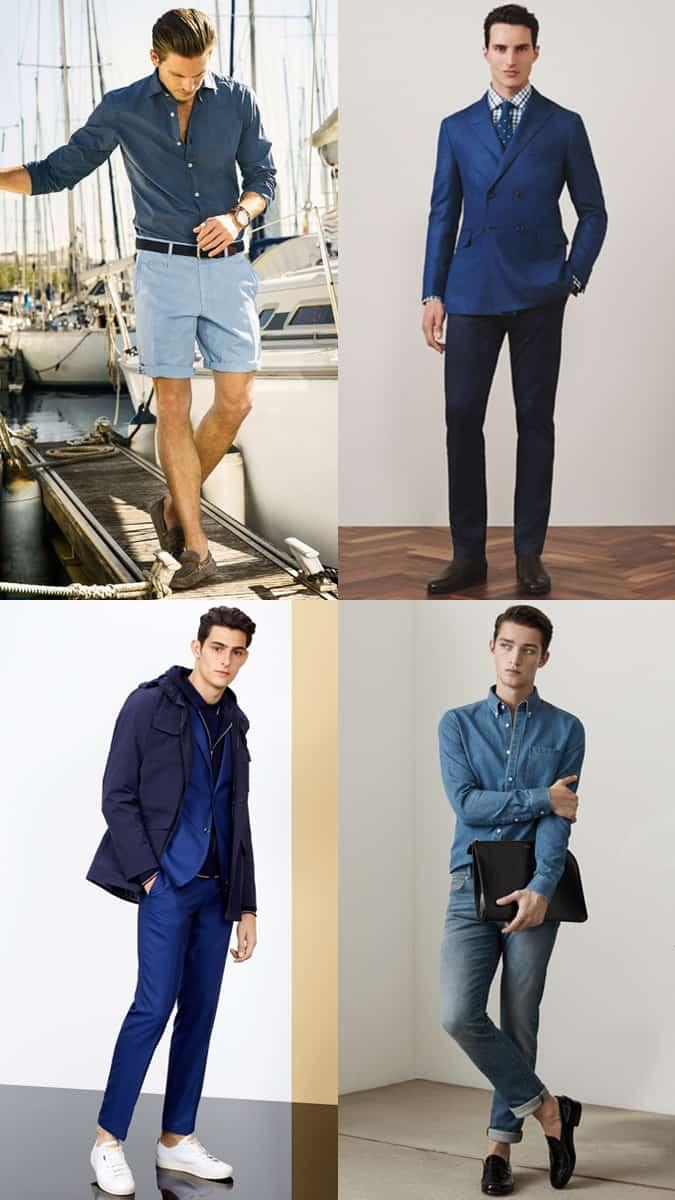Comment porter une tenue entièrement bleue