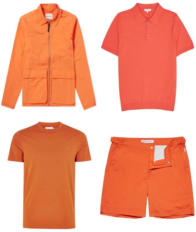 Les meilleurs vêtements d'été orange pour hommes