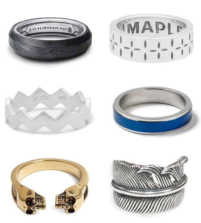 Les meilleurs anneaux de mode pour hommes