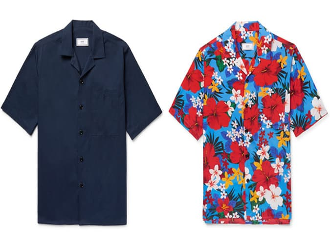 Chemises à manches courtes pour hommes AMI Designer