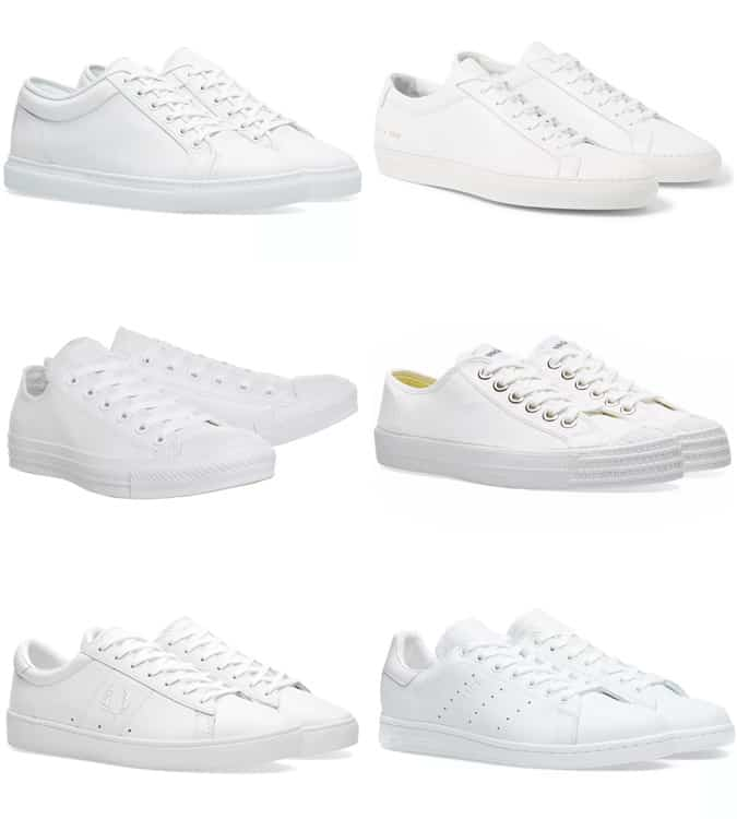All White Slip On Sneakers