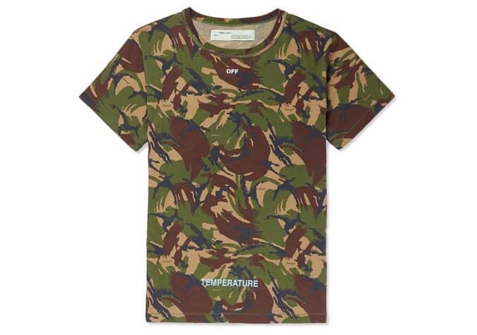 T-shirt en jersey de coton imprimé flèches BLANCHE