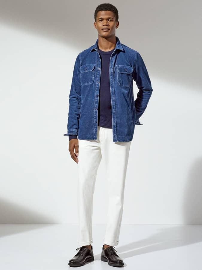 Lookbook Inspiration pour jeans blancs et tenues color-block