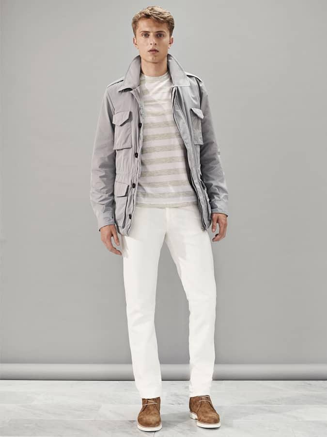Lookbook d'inspiration pour jeans blancs et chaussures contrastées pour homme
