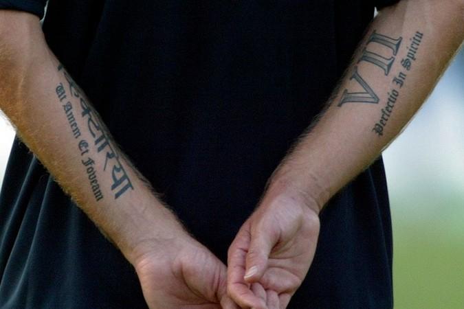 Roman Letters Tattoo