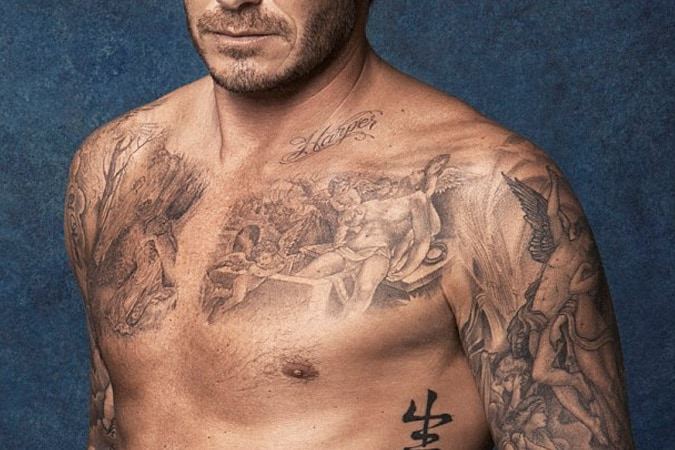 David Beckham Guardian Angel Tattoo