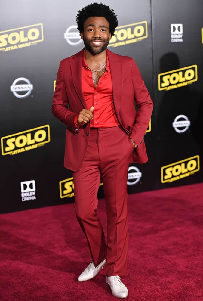 Childish Gambino Red Suit