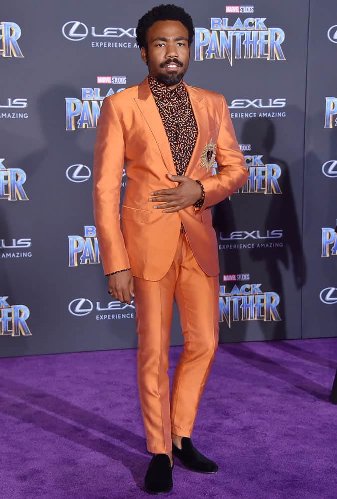 Donald Glover Orange Suit