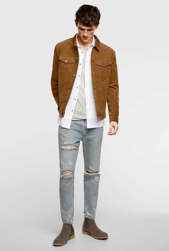 Inspiration pour une tenue en jean déchiré