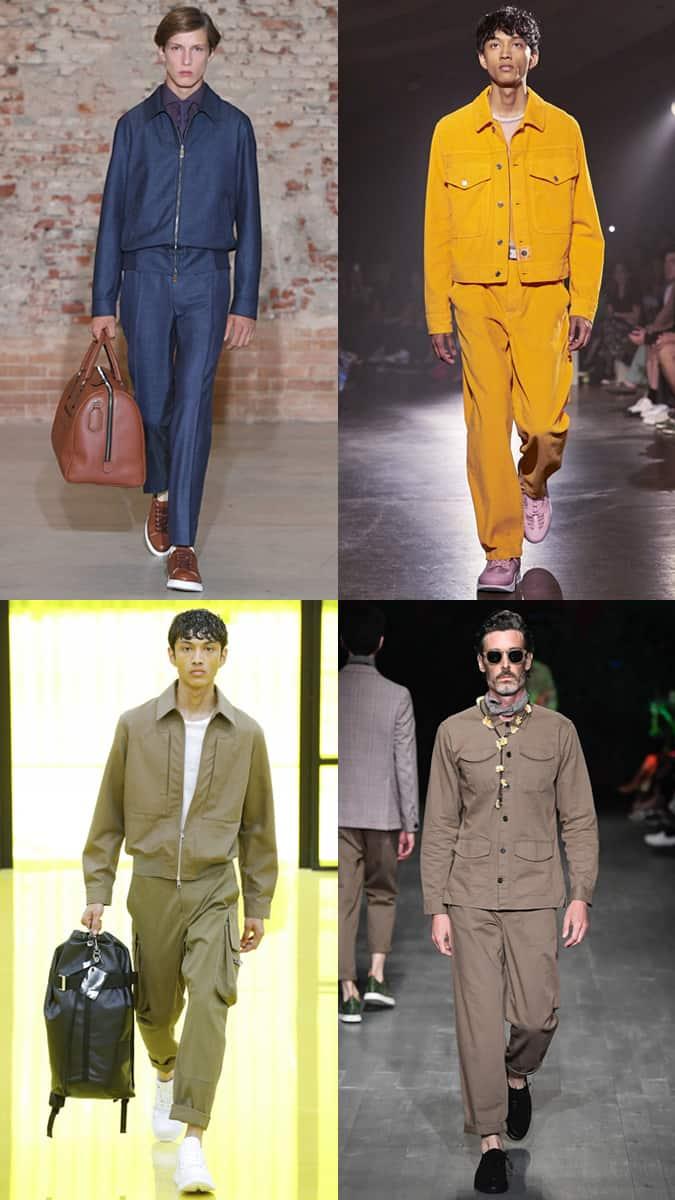 Vestes et pantalons assortis à la Fashion Week des hommes