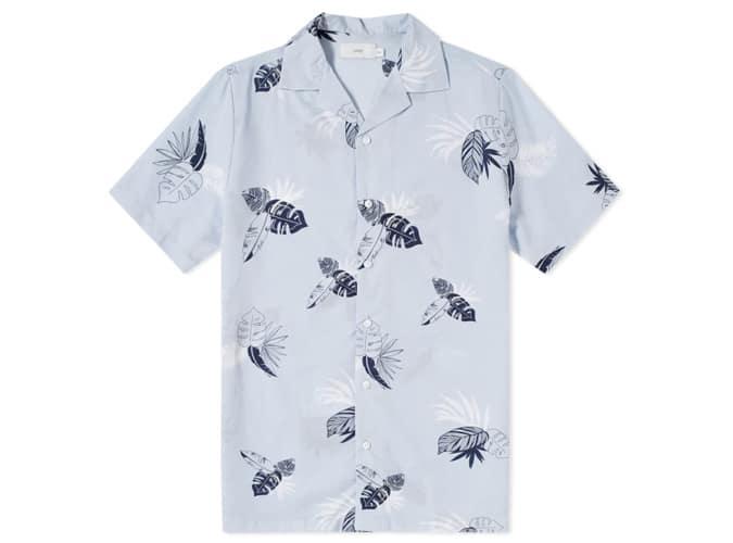 Chemise de vacances à manches courtes Onia Palms linéaire