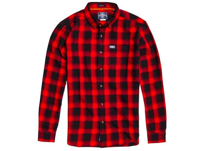 Chemise droite à carreaux Superdry Workwear