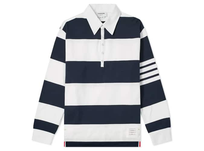 THOM BROWNE OVERSIZED 4 BAR RUGBY SHIRT