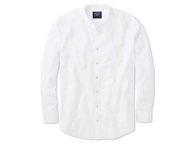 Charles Tyrwhitt Chemise blanche sans col coupe slim