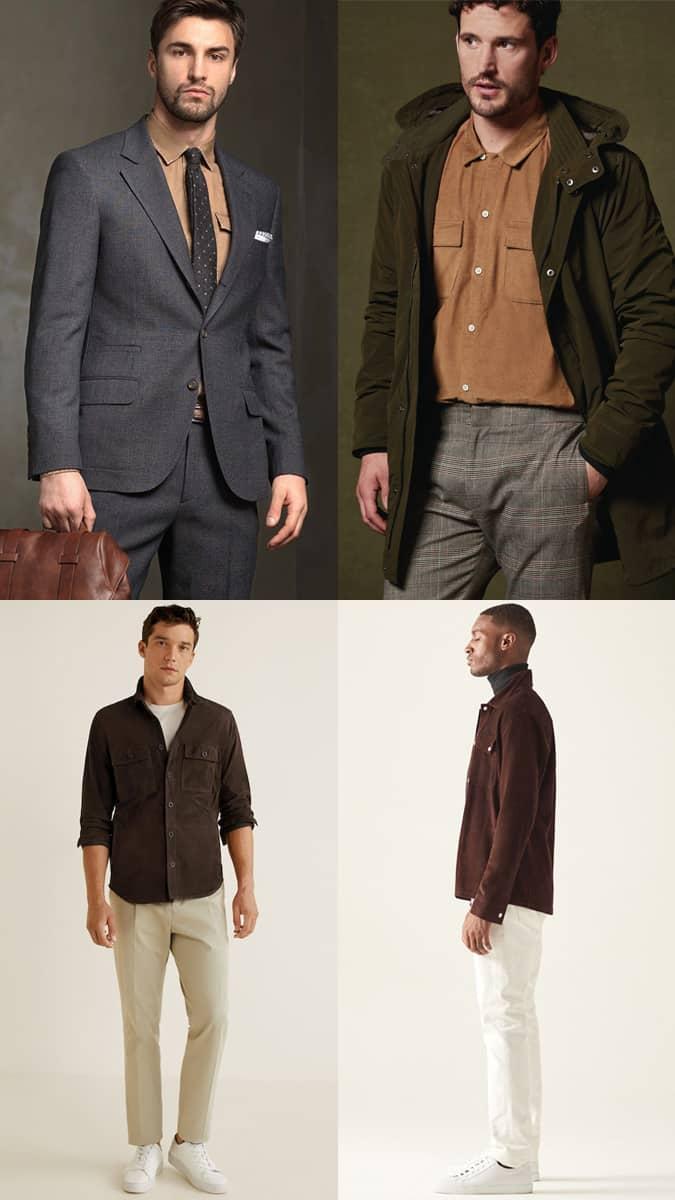 Comment porter une chemise marron