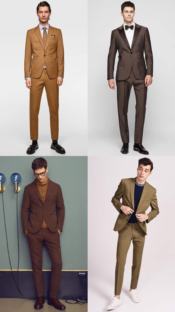 Comment porter un costume marron