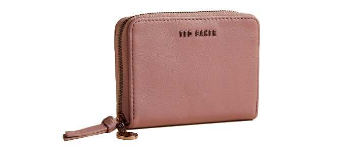 Ted Baker HARREE Leather zip charm mini purse