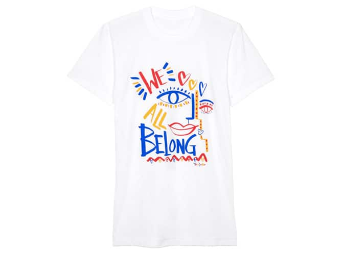 T-shirt américain que nous appartenons tous