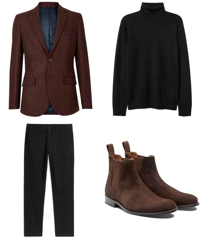 Comment porter un pantalon noir et des chaussures marron