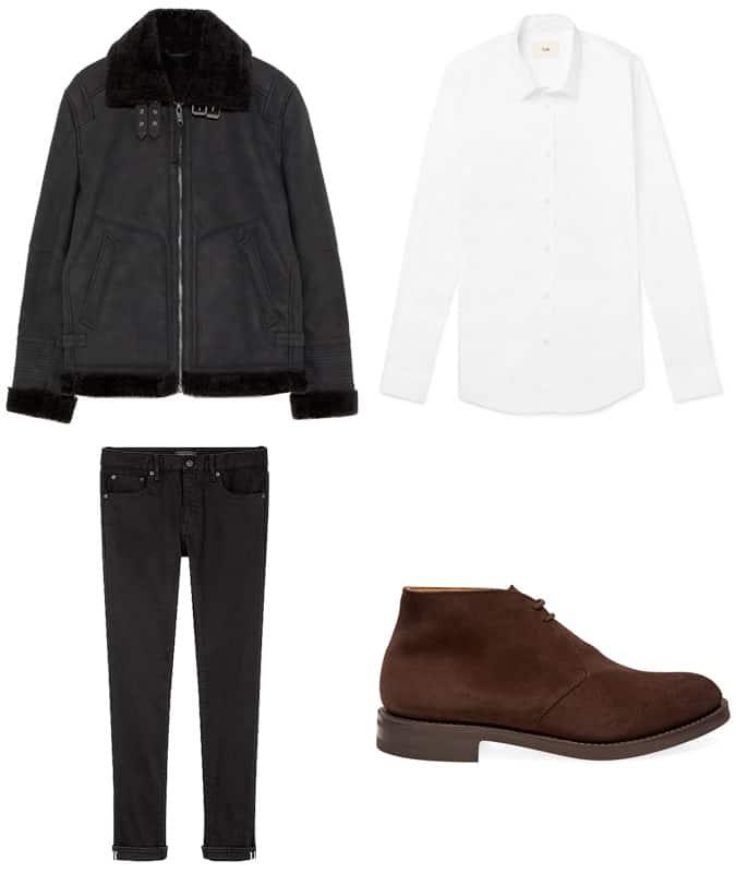 Comment porter un pantalon noir et des bottes marron