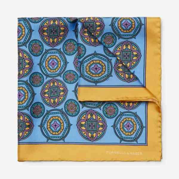 Mouchoir de poche en sergé de soie imprimé TURNBULL & ASSER