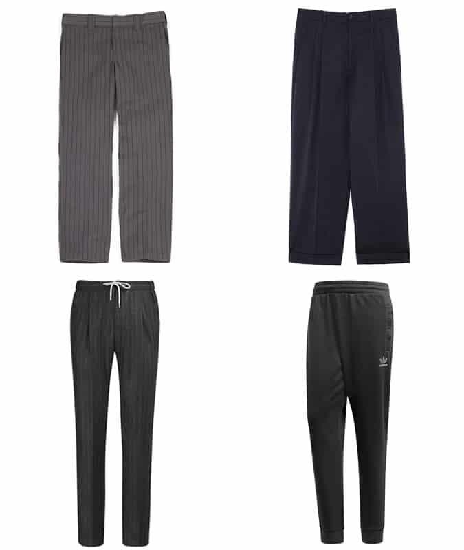 Pantalon décontracté à fines rayures pour hommes