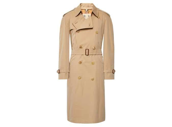 Trench-coat en gabardine de coton BURBERRY