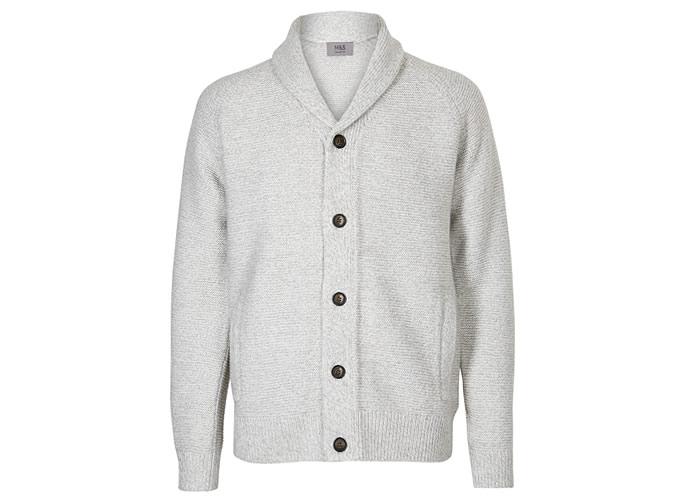 M&S COLLECTION Cardigan châle texturé
