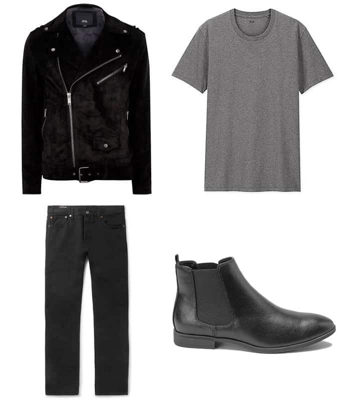 Vêtements pour hommes entièrement noirs à prix abordable