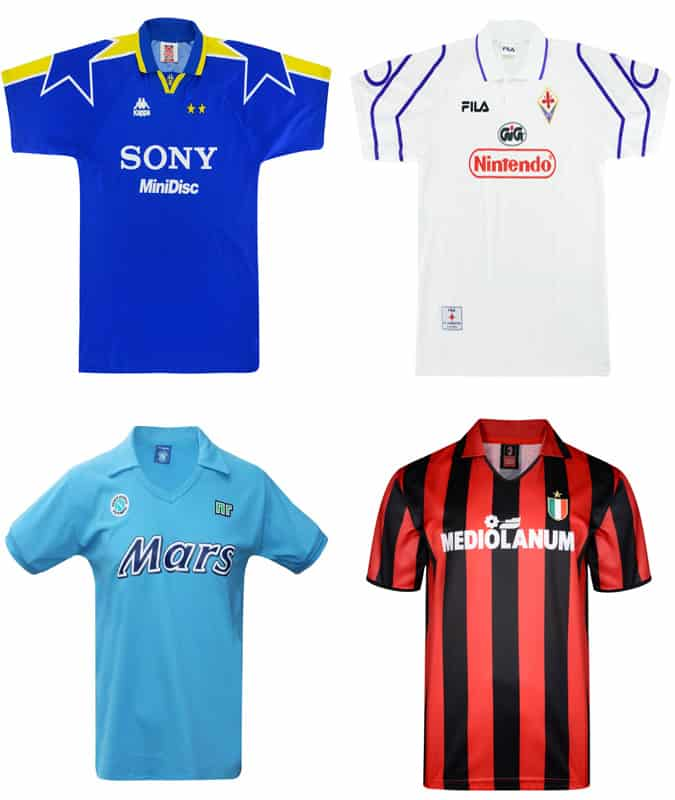 Les meilleurs maillots de football italiens rétro