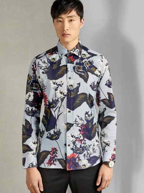 Chemise en coton à fleurs Flowerz