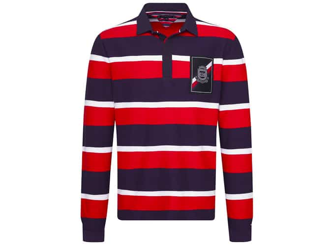 MULTICOLOUR STRIPE RUGBY SHIRT
