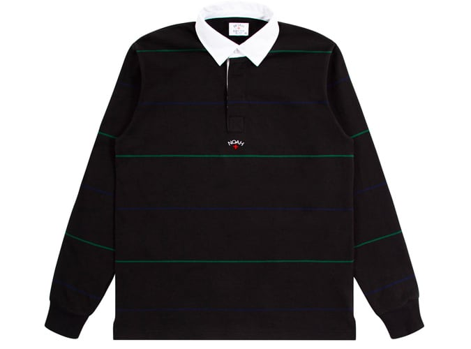 Noah Alternating Stripe Rugby (Black)
