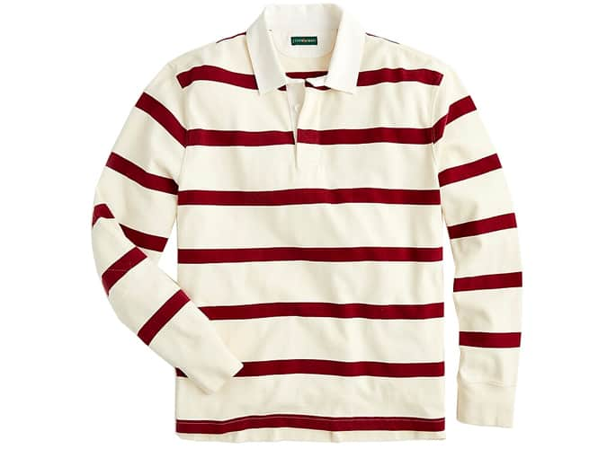 1984 Rugby shirt in burgundy stripe
