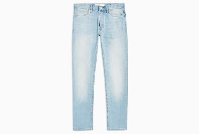 Jean slim stretch délavé clair