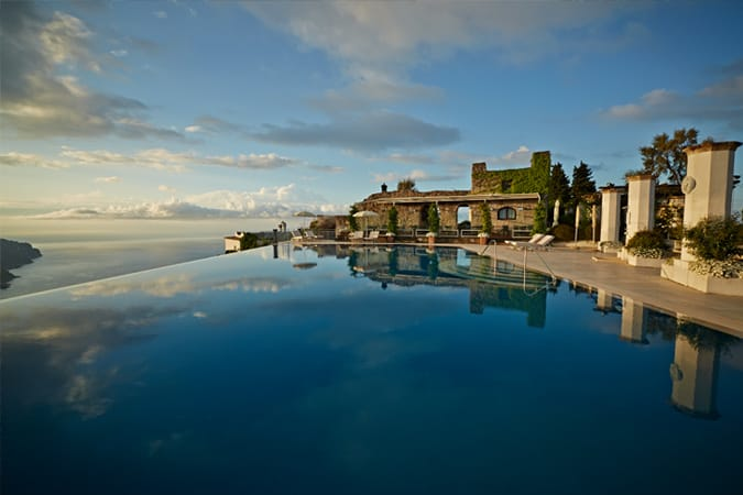 The Infinity Pool at Hotel Caruso