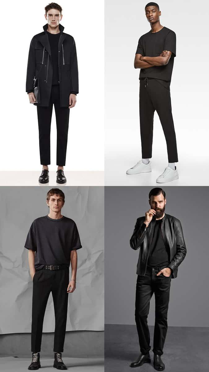 idées de tenue de t-shirt noir