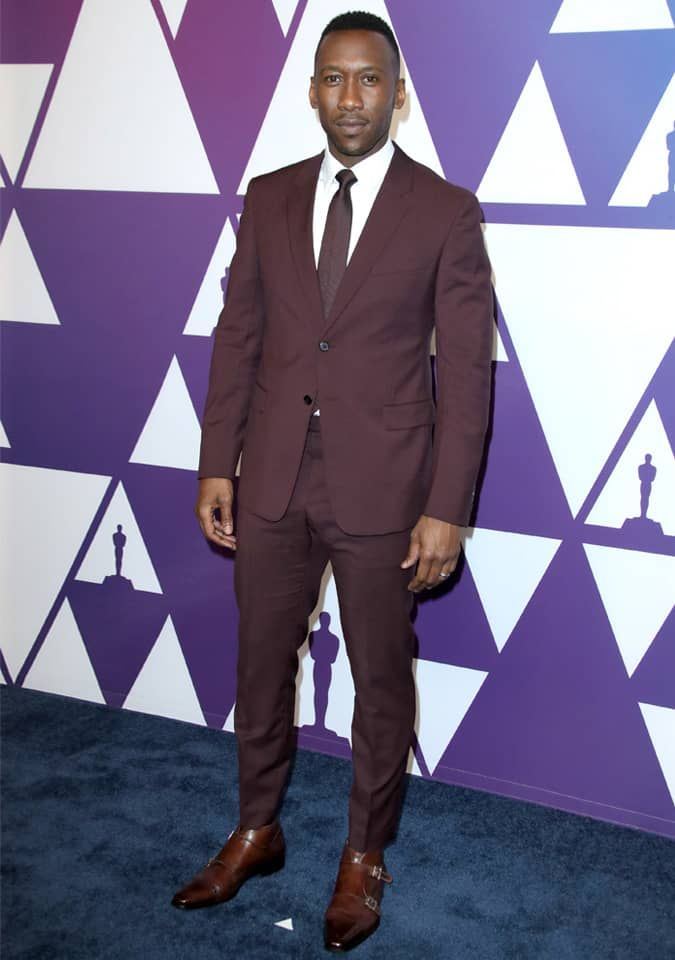 Mahershala Ali in Burgundy Suit
