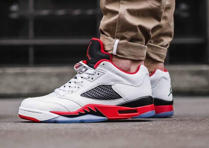 Air Jordans sur les pieds